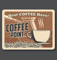 coffeeshop coffee beans and cezve brewer vector image