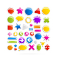 Colorful Web Shapes Icons vector image vector image