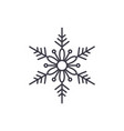 cute snowflake line icon concept cute snowflake vector image