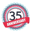 Cute Template 35 Years Anniversary with Balloons vector image vector image