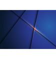 dark blue metallic overlap with gold light vector image