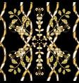 decorative symmetry arabesque seamless medieval vector image