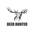 deer hunter design template vector image vector image