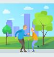 elderly couple dancing outdoor dancers vector image vector image