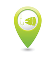 fishing icon green map pointer vector image