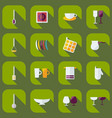 flat modern design with shadow icons kitchen vector image vector image
