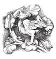 foliate sculpture based on fundamental forms vector image