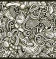 football hand drawn doodles seamless vector image vector image