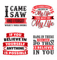 funny quote and saying set vector image