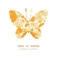 golden art flowers butterfly silhouette vector image
