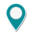 gps pin icon vector image vector image