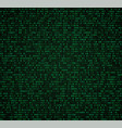 green matrix background with digits vector image vector image