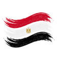 grunge brush stroke with national flag of egypt vector image