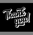 hand sketched thank you quote lettering vector image vector image