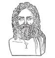 head of zeus vintage vector image vector image