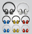 headphones set color vector image