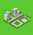 isometric city block vector image vector image