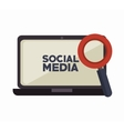 laptop search social media isolated icon design vector image vector image