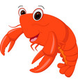 lobster cartoon vector image