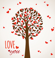 Love tree on light background vector image vector image