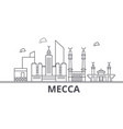 mecca architecture line skyline vector image vector image