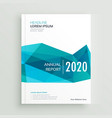 modern blue geometric brochure cover page design vector image vector image
