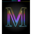 neon letter vector image vector image