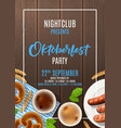 oktoberfest party flyer template vector image