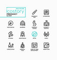 pregnancy - line design style icons set vector image