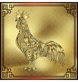 rooster chinese zodiac symbol 2017 vector image vector image