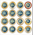 sale retro vintage golden badges and labels 02 vector image vector image