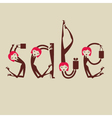 sale typography funny background vector image vector image