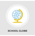 School globe flat icon vector image