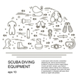 Scuba diving vector image vector image