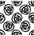 Seamless background with stylized roses vector image vector image