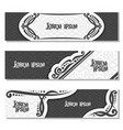 set black and white banners vector image