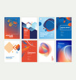 set brochure annual report design template vector image vector image