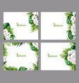 set of holiday banners with green tropical palm vector image vector image
