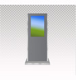 set of information kiosks with blank screens vector image vector image