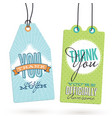 set of vintage thank you tags vector image vector image