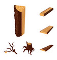 signboard and wood icon vector image vector image