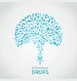 small water drops vector image
