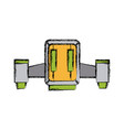 space ship flying technology start vector image vector image