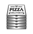 stack pizza boxes graphic objects vector image vector image