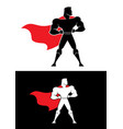 superhero champion symbol vector image