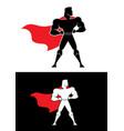superhero champion symbol vector image vector image