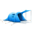 touristic camping tent vector image vector image