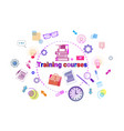 training courses banner online education elearning vector image vector image