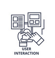 user interaction line icon concept user vector image vector image