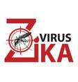 Zika virus alert vector image vector image